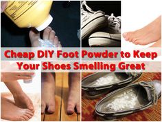 Stinky feet are not just a man thing. As much as us girls would love to deny it, we can have smelly shoes from time to time and buying foot powder can get expensive, especially if you do have a few guys in your house. This video shows you exactly how to make your own food powder that will remove...