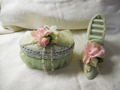 Victorian Shoe Ring Holder and Trinket Box by LovelyAccent on Etsy, $22.50