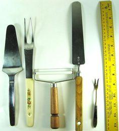 Lot Of 5 Kitchen Utensils Cheese Slicer Spatula Fork.  RRR 23 #Unbranded