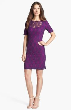 Ivy & Blu for Maggy Boutique Lace Sheath Dress (Regular & Petite) available at #Nordstrom