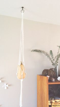 Large macrame plant hanger 100% coton rope by HipsyLoop on Etsy
