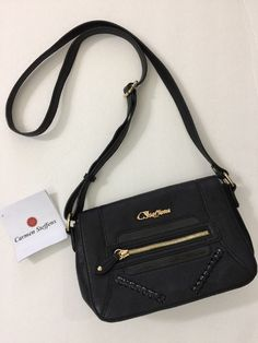 Carmen Steffens Black Braided Crossbody Purse Bag NEW #CarmenSteffens #Crossbody