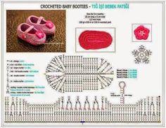 2 modelos de zapatitos de bebé con sus patrones | Crochet y Dos agujas