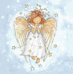 Angelic charity card in aid of Childline Watercolor Christmas Cards, Christmas Drawing, Christmas Paintings, Angel Images, Angel Pictures, Illustration Noel, Christmas Illustration, Christmas Angels, Christmas Art
