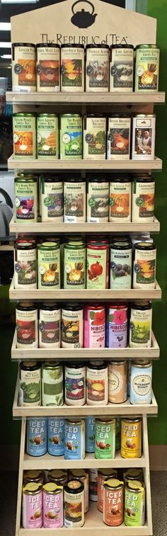 The Republic of Tea. Favorites: orange-cinnamon red tea, blueberry hibiscus, chocolate peppermint, dream by the fire.