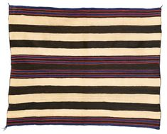 * Navajo Classic Man's Chief-style wearing blanket, First Phase with bayeta, from the Andy Williams Collection. Navajo Weaving, Navajo Rugs, American Indian Art, Native American Art, American Indians, Andy Williams, Classic Man, Red Stripes, Woven Rug
