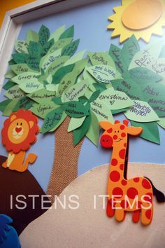 Baby Shower Sign-in Guest Book Jungle Theme by IstensItems on Etsy
