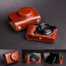 Handmade Genuine real Leather Full Camera Case bag Cover for Olympus XZ2 XZ-2