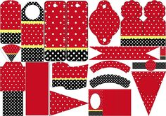 Red, Black and White Polka Dots: Free Party Printables.