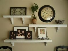 wall displays with floating shelves