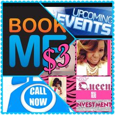 QUEEN B's INVESTMENTS IS NOW EXPANDING TO PROMOTING EVENTS FOR BUSINESSES. IF YOU HAVE COMMUNITY EVENTS, SHOWS, FESTIVALS, JOB FAIRS, ETC THAT YOU WANT TO MARKET  I WILL BE MORE THAN HAPPY TO ASSIST YOU. I CHARGE A SMALL FEE OF $3 PER DAY. IF YOU ARE INTERESTED IN MY SERVICES FEEL FREE TO INBOX ME, EMAIL ME @ queenbsinvestmentscompany@yahoo.com, OR CALL MY BUSINESS PHONE @ 9542398915 OR 7547038222!!!!