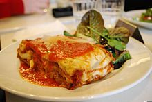 Lasagne is a well-known casserole dish - List of casserole dishes
