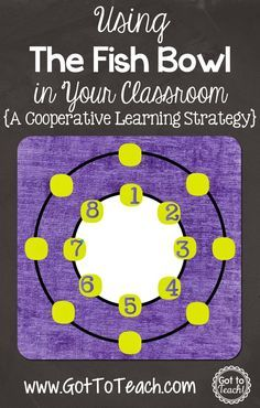 Got to Teach!: The Fish Bowl: A Cooperative Learning Strategy {Post 5 of 5}