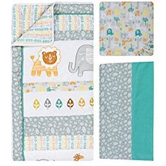 Trend Lab 6 Piece Crib Bedding Set Lullaby Jungle Standard Crib/Toddler - Nursery Bedding - Ideas of Nursery Bedding - Trend Lab 6 Piece Crib Bedding Set Lullaby Jungle Standard Crib/Toddler Price : Baby Crib Bedding Sets, Bedding Shop, Traditional Nursery Decor, Cotton Diapers, Cloth Diapers, Blue Crib, Crib Mattress, Room Accessories, Bedding Collections