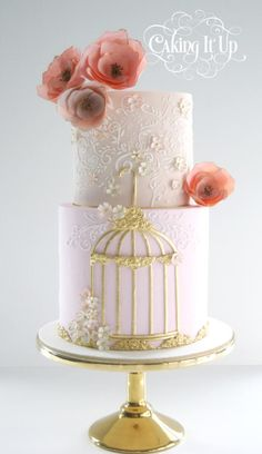 Whimsical Birdcage Cake
