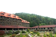 The Grove Park Inn (another view), Asheville, NC.  The spa is one of the most amazing spas I have ever seen or experienced.