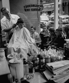 All Things Barber Shop Back To School Haircuts, Haircuts For Men, Old Pictures, Old Photos, Shaved Hair Cuts, Barber Shop Quartet, Nostalgia, Vintage Hairstyles, 1950s Hairstyles