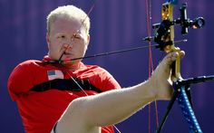Inspiration: Matt Stutzman of the US competes in the men's individual compound archery  Picture: GETTY IMAGES