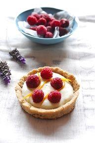 Lavender-Infused Raspberry Tartlets #raw #food #dessert