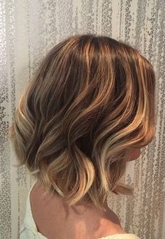 blonde / bronde ombre on short hair
