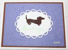 Dachshund Elegant Thank You Handmade Greeting Card Dog Benefits Animal Rescue
