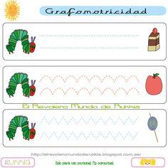grafomotricidad, oruga glotona actividades, graphomotor, graphomotor skills, hungry caterpillar activities