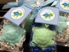 Set of 10 Turtle Soap Favors Party Favors  Baby Shower Bridal Shower Birthday Wedding Custom Party Favors Includes Customized Tags. $17.50, via Etsy.
