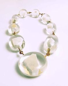 #Ted Noten #Marble #Necklace - 18K gold, marble cast in acrylic