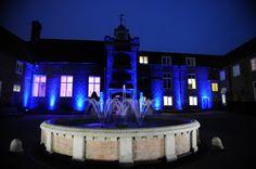Fulham Palace lit at night