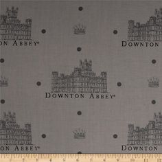 """Downton Abbey II Large Castle Gray from @fabricdotcom  Licensed by Carnival Film & Television Ltd. to Andover Fabrics, this cotton print fabric is inspired by the TV series, """"Downton Abbey."""" It is perfect for quilting, apparel, crafts, and home decor items. Colors include grey and charcoal."""
