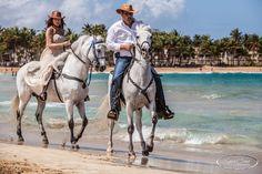 Horseback riding on the beach in Rio Grande, Puerto Rico.