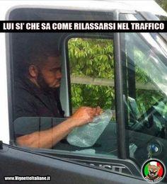 Scoppiando le bollicine? :D #immagini #divertenti #traffico