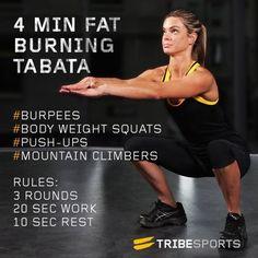 4 Min Fat Burning Tabata | Workouts | Tribesports
