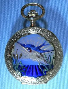 enamel and pearl pocket watch, circa 1900/Bogoff