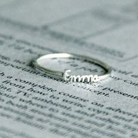 Name ring -make great b-day gifts for special girls