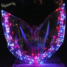 Our new special creation of LED Isis wings