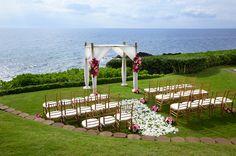 hawaii - maui - sheraton maui resort & spa - kaanapali point - ceremony decor - bamboo chuppah