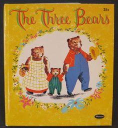THE-THREE-BEARS-vintage-Whitman-Tell-A-Tale-Sari-HB-1960-Goldilocks-NICE