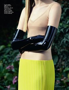 visual optimism; fashion editorials, shows, campaigns & more!: in senso latex: sofia fisher by timur celikdag for vanity fair italia 23rd ap...