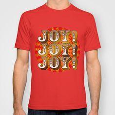 #society6 #JOY #teeshirt #cotton #fashion #style #christmas #holidays #celebration #vintage #typography #happy #light #unique #petergross