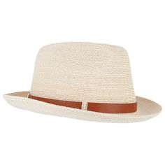 In a classic natural tone, this Panama trilby hat from Grevi features a leather-look band with a branded buckle detail. Crafted fr