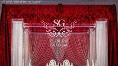 Suhaag Garden, Florida California Atlanta Indian wedding decorators, red and white themed wedding, white pearls, red roses, mandap