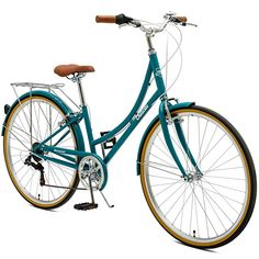 Retrospec by Westridge Critical Cycles Seven Speed Lady's Urban City Commuter Bike; Turquoise, For Sale 7 Seven, Vintage Inspiriert, Commute To Work, Urban Bike, Commuter Bike, Bike Reviews, Turquoise, What Is Like, Diamond Shapes