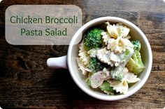 chicken pasta salad recipe - I would make it a little more exciting with garlic, tomatoes or something