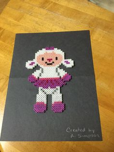 Lambie (Doc McStuffins) perler beads by Ana Luisa Simpson - Pattern: https://de.pinterest.com/pin/374291419011623223/