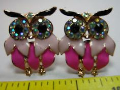 cufflinks DARK PINK AND LIGHT PINK  ENAMEL HOOTY OWL W RHINESTONES. &18.00 straight from http://www.ebay.com/itm/cufflinks-DARK-PINK-AND-LIGHT-PINK-ENAMEL-HOOTY-OWL-W-RHINESTONES-/201336350829?pt=LH_DefaultDomain_0&hash=item2ee094e86d