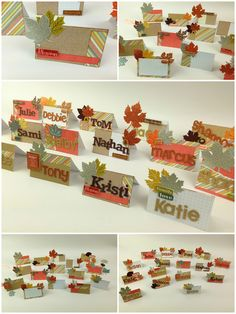 DIY Thanksgiving Place Cards — me & my BIG ideas - Pat Therien - Holidays Thanksgiving Name Cards, Thanksgiving Diy, Thanksgiving Celebration, Thanksgiving Table Settings, Thanksgiving Centerpieces, Diy Place Cards, Cards Diy, Holiday Crafts, Holiday Decor