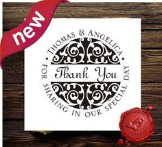 Custom rubber stamp Save The Date -  thank you cards -  personalized wedding  gift-   HS1265