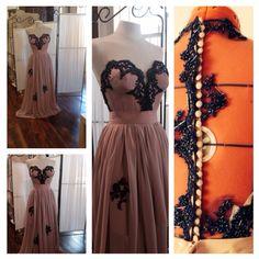 Vestido exclusivo sob medida by Bruna Baltuz Hand Made para Carolina Baptista