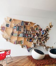 USA Bookshelf. How clever is this!?!?!